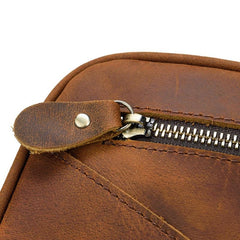 The Nomad Toiletry Bag | Genuine Leather Travel Toiletry Bag - STEEL HORSE LEATHER, Handmade, Genuine Vintage Leather