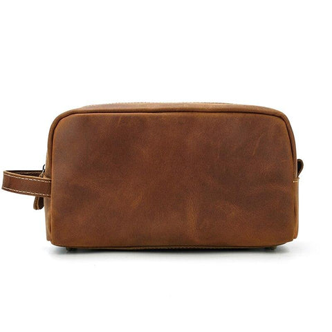 The Wanderer Toiletry Bag | Genuine Leather Toiletry Bag - STEEL HORSE LEATHER