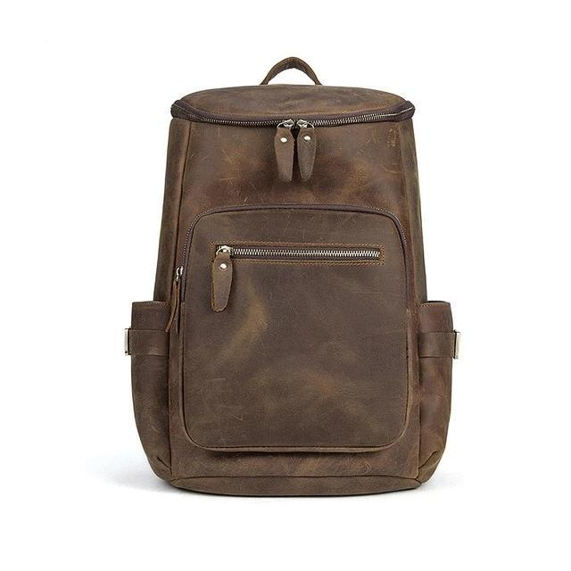 The Faulkner Backpack | Handcrafted Leather Backpack - STEEL HORSE LEATHER, Handmade, Genuine Vintage Leather