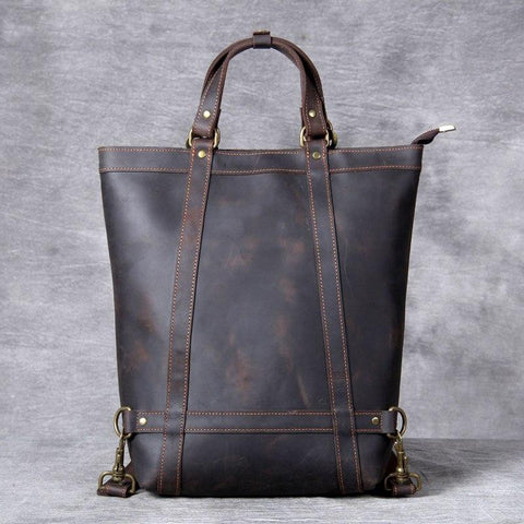 The Icarus | Handmade Vintage Leather Backpack - STEEL HORSE LEATHER