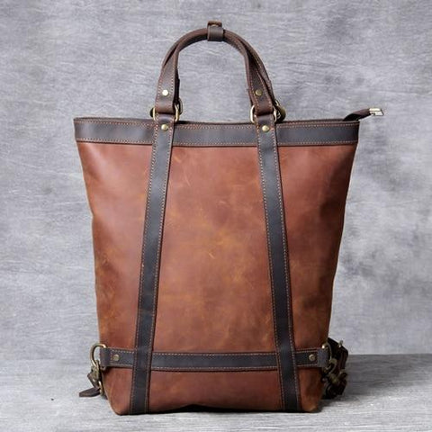 The Icarus | Handmade Vintage Leather Backpack