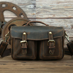The Faust Leahter Camera Bag | Crossbody Vintage Camera Messenger Bag