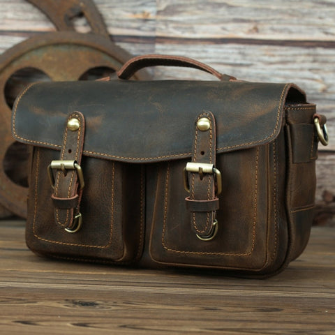 The Faust Leather Camera Bag | Crossbody Vintage Camera Messenger Bag