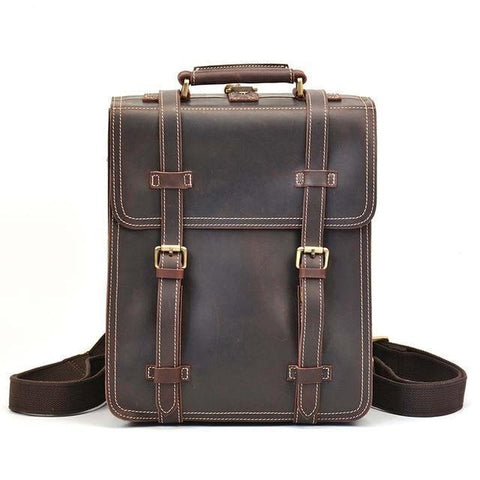 The Garth Backpack | Vintage Leather Backpack - STEEL HORSE LEATHER, Handmade, Genuine Vintage Leather