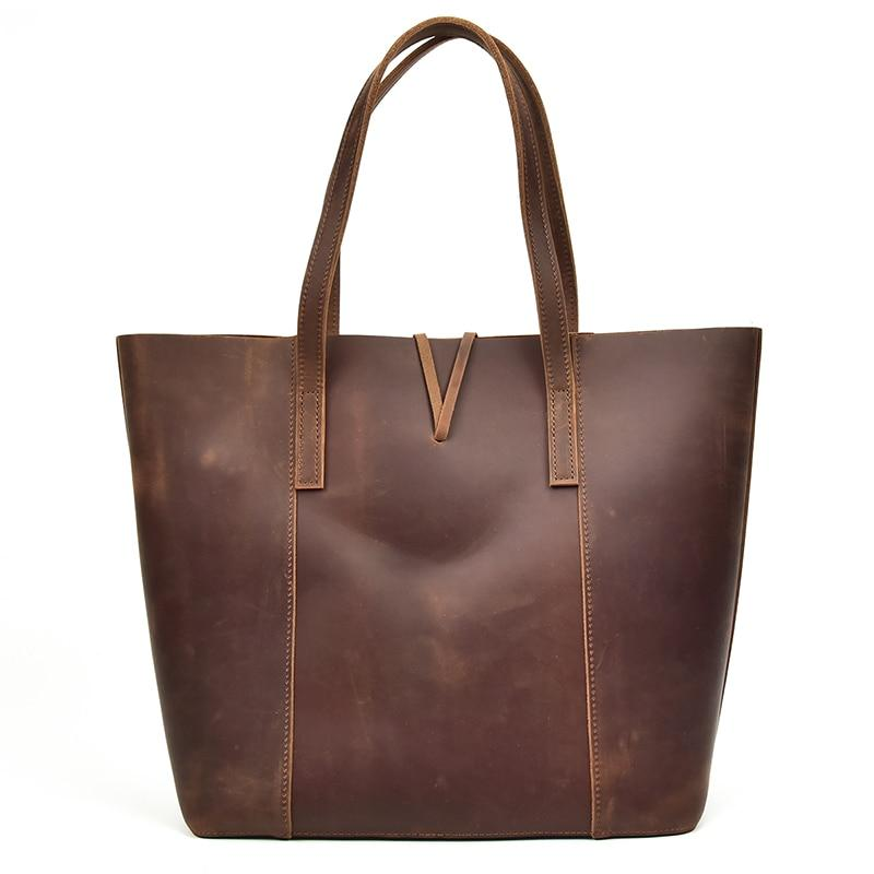 The Taavi Tote | Handcrafted Leather Tote Bag - STEEL HORSE LEATHER, Handmade, Genuine Vintage Leather