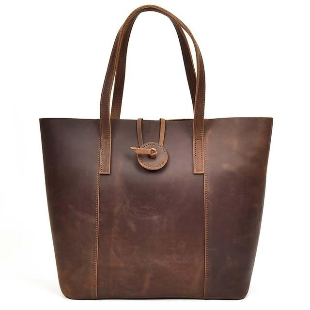 The Taavi Tote | Handcrafted Leather Tote Bag - STEEL HORSE LEATHER