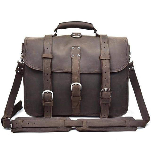 The Gustav Messenger Bag | Large Capacity Vintage Leather Messenger Bag - STEEL HORSE LEATHER