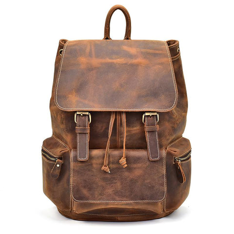 The Hagen Backpack | Vintage Leather Backpack - STEEL HORSE LEATHER, Handmade, Genuine Vintage Leather