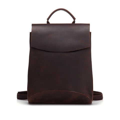 The Gyda Backpack | Vintage Leather Travel Backpack - STEEL HORSE LEATHER, Handmade, Genuine Vintage Leather