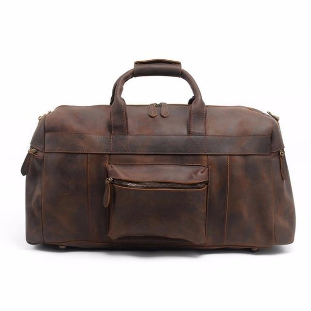 The Asta Weekender | Handcrafted Leather Duffle Bag - STEEL HORSE LEATHER, Handmade, Genuine Vintage Leather