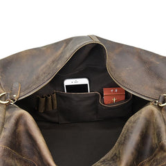 The Colden Duffle Bag | Large Capacity Leather Weekender - STEEL HORSE LEATHER