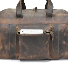 The Colden Duffle Bag | Large Capacity Leather Weekender - STEEL HORSE LEATHER, Handmade, Genuine Vintage Leather