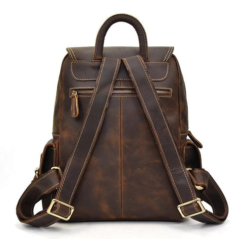 The Freja Backpack | Handcrafted Leather Backpack - STEEL HORSE LEATHER, Handmade, Genuine Vintage Leather