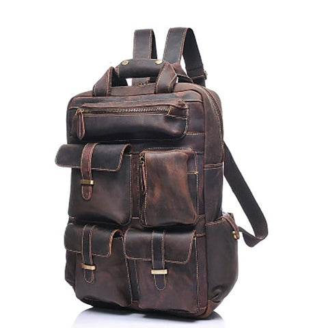 The Shelby Backpack | Handmade Genuine Leather Backpack - STEEL HORSE LEATHER, Handmade, Genuine Vintage Leather