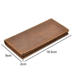 The Pathfinder Bifold Wallet | Genuine Leather Pocket Book - STEEL HORSE LEATHER, Handmade, Genuine Vintage Leather
