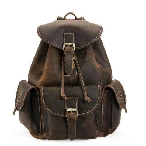 The Thorsen Backpack | Small Handmade Genuine Leather Backpack - STEEL HORSE LEATHER, Handmade, Genuine Vintage Leather