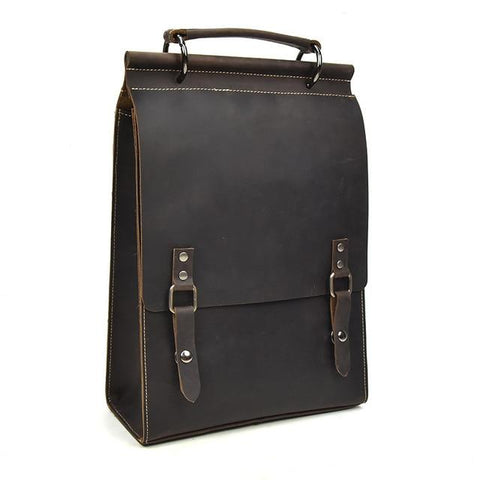 The Unn Backpack | Vintage Leather Backpack - STEEL HORSE LEATHER, Handmade, Genuine Vintage Leather