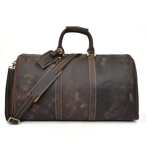 The Bjarke Weekender | Handcrafted Leather Duffle Bag - STEEL HORSE LEATHER, Handmade, Genuine Vintage Leather