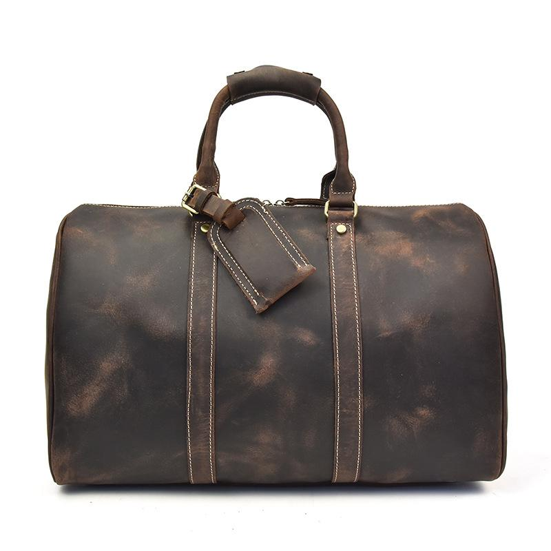 The Brandt Weekender | Small Leather Duffle Bag