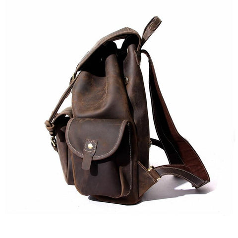 The Asmund Backpack | Genuine Leather Rucksack - STEEL HORSE LEATHER, Handmade, Genuine Vintage Leather