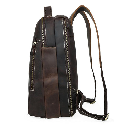 The Sten Backpack | Small Genuine Leather Backpack - STEEL HORSE LEATHER, Handmade, Genuine Vintage Leather