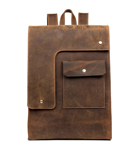 The Ragna Backpack | Vintage Leather Backpack - STEEL HORSE LEATHER, Handmade, Genuine Vintage Leather