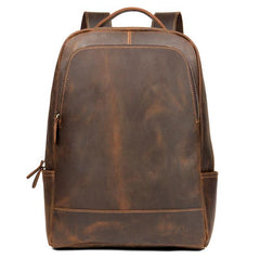 The Vernon Backpack | Genuine Vintage Leather Minimalist Backpack - STEEL HORSE LEATHER