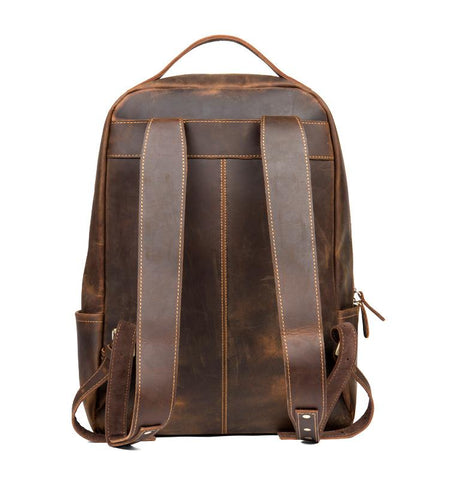 The Vernon Backpack | Genuine Vintage Leather Minimalist Backpack - STEEL HORSE LEATHER, Handmade, Genuine Vintage Leather