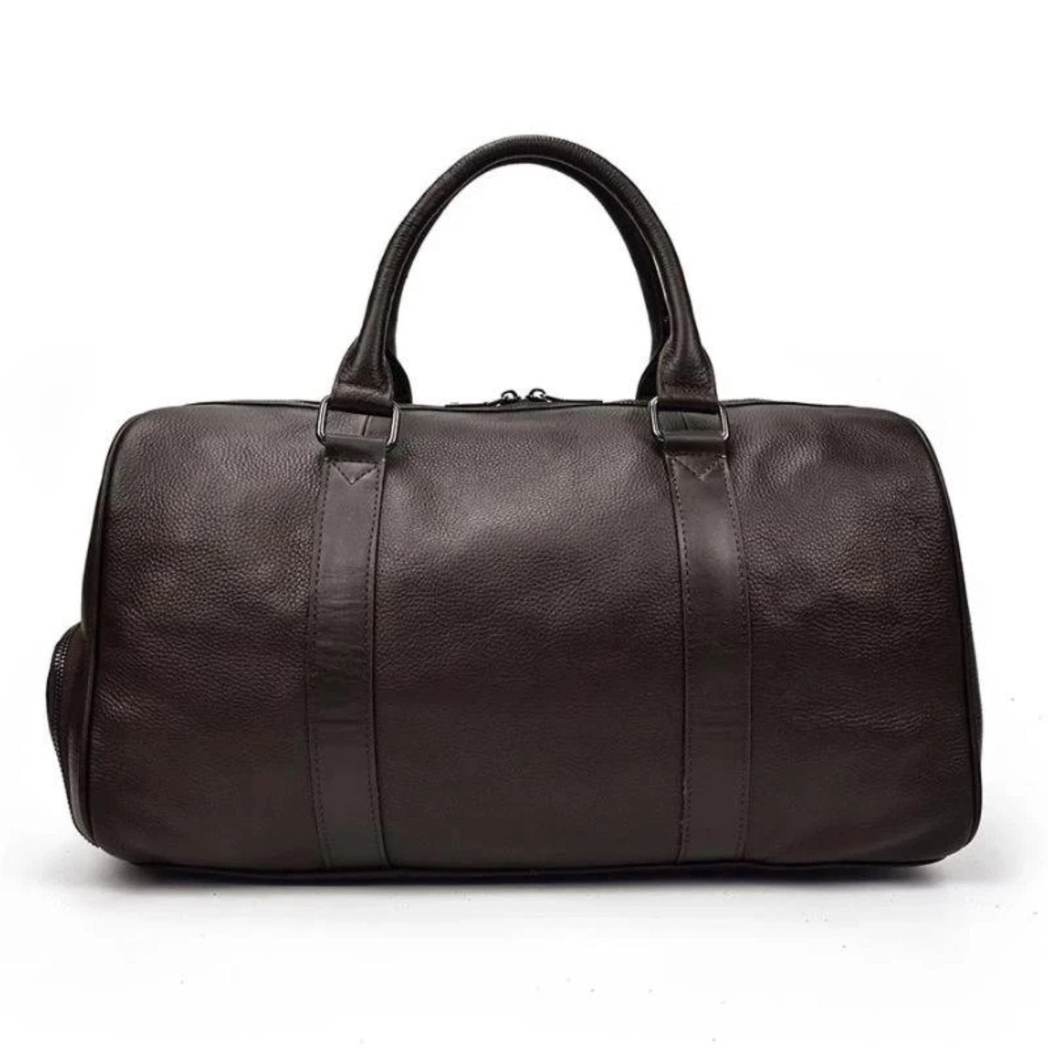 The Endre Weekender | Vintage Leather Duffle Bag - STEEL HORSE LEATHER, Handmade, Genuine Vintage Leather
