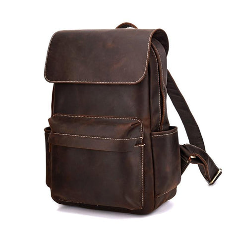 The Helka Backpack | Genuine Vintage Leather Backpack - STEEL HORSE LEATHER