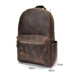 The Calder Backpack | Handcrafted Leather Backpack - STEEL HORSE LEATHER, Handmade, Genuine Vintage Leather