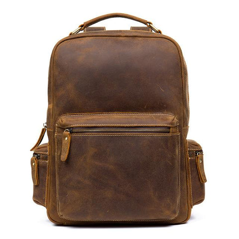 The Langley Backpack | Genuine Vintage Leather Backpack - STEEL HORSE LEATHER