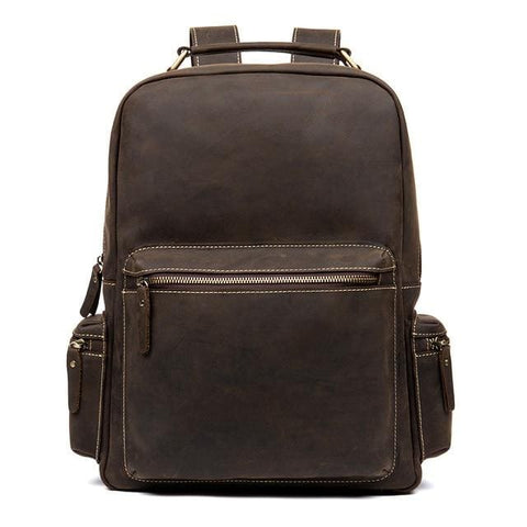 The Langley Backpack | Genuine Vintage Leather Backpack - STEEL HORSE LEATHER, Handmade, Genuine Vintage Leather