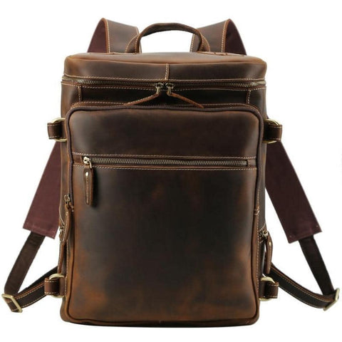 The Raoul Backpack | Handmade Vintage Leather Backpack - STEEL HORSE LEATHER, Handmade, Genuine Vintage Leather