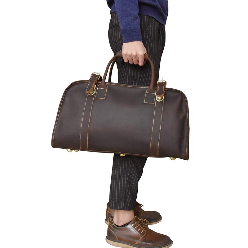 The Erlend Duffle Bag | Vintage Leather Weekender