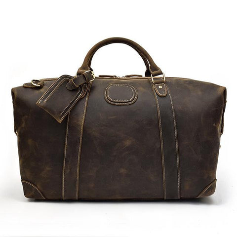 The Eira Duffle Bag | Vintage Leather Weekender - STEEL HORSE LEATHER