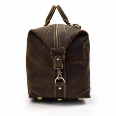 The Eira Duffle Bag | Vintage Leather Weekender - STEEL HORSE LEATHER, Handmade, Genuine Vintage Leather