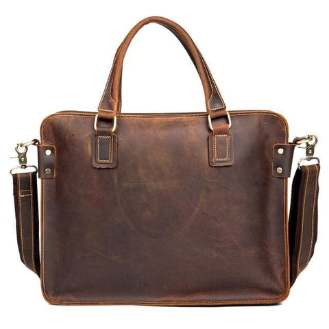 The Viggo Briefcase | Genuine Leather Messenger Bag - STEEL HORSE LEATHER