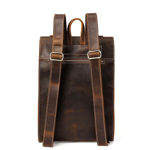 The Felman Backpack | Handcrafted Leather Backpack - STEEL HORSE LEATHER, Handmade, Genuine Vintage Leather