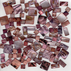 Pale Burgundy Copper Shell Mix