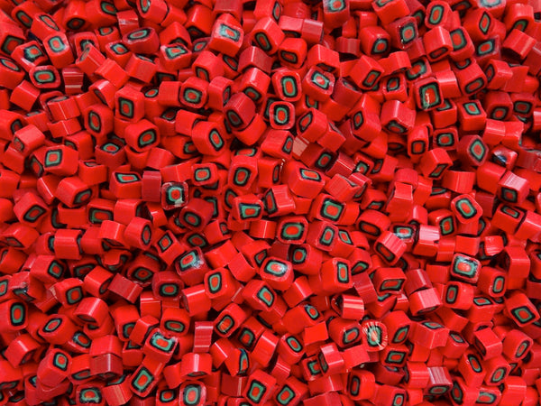 213 Red Black Green 6-7mm