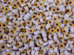 23 White Yellow Red Black Circle 9-10mm