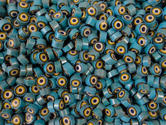 91 Aqua Yellow White Black 8-9mm