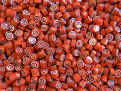 47 Orange White Cobalt Circle 8-9mm