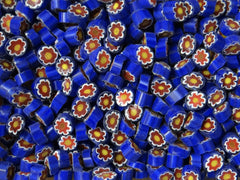 117 Cobalt White Red Yellow Flower 10-12mm