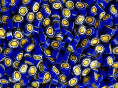 154 Cobalt White Brown Yellow Circle 9-11mm