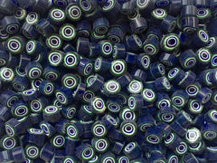 111 Cobalt Green White Circle 9-10mm