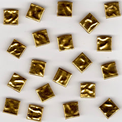 20pcs 10mm Ripple Gold Tile 10.301 BIS