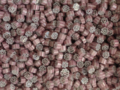 T35 Pink/White/Clear Flower 8-10mm
