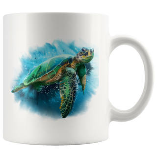 Sea Turtle White 11oz Mug